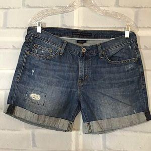 Levi's Cuffed Blue Jean Shorts